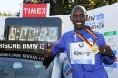 Wilson Kipsang and his new world record. - © SCC EVENTS/Jiro Mochizuki